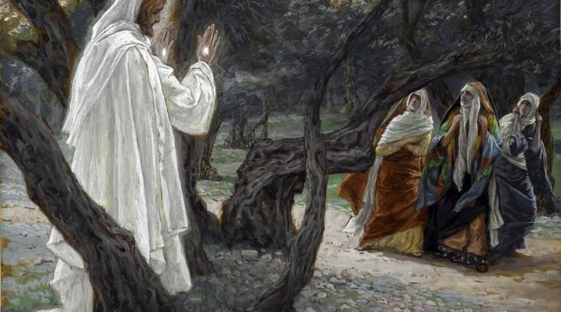 Jesus Ressuscitado aparece às mulheres - pintura de James Tissot