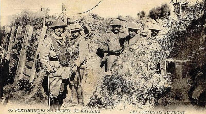 Efemérides em Abril - Batalha de La Lys - França - Nas trincheiras da 1º Guerra Mundial