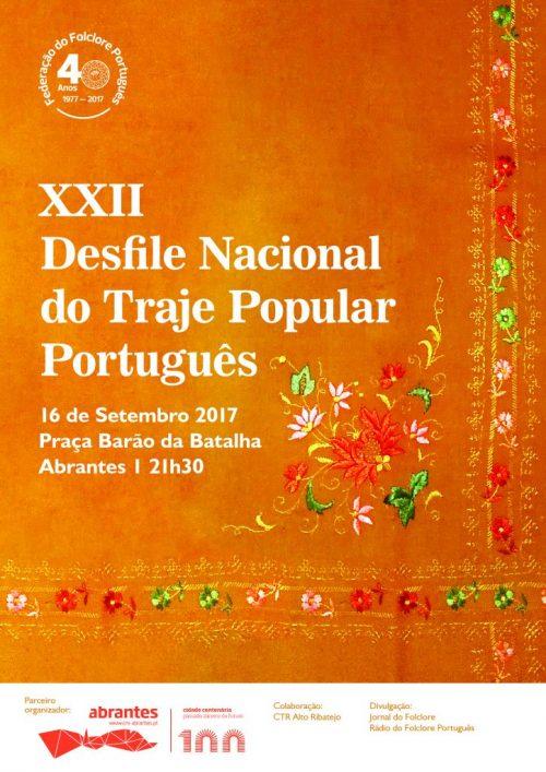 XXII Desfile do Traje Popular Português - Abrantes - 16 de Setembro 2017 - 22 horas