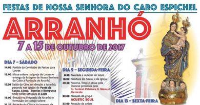 Festas em honra de Nossa Senhora do Cabo Espichel, que se vão realizar entre 7 e 15 de Outubro de 2017, a Paróquia de São Lourenço de Arranhó