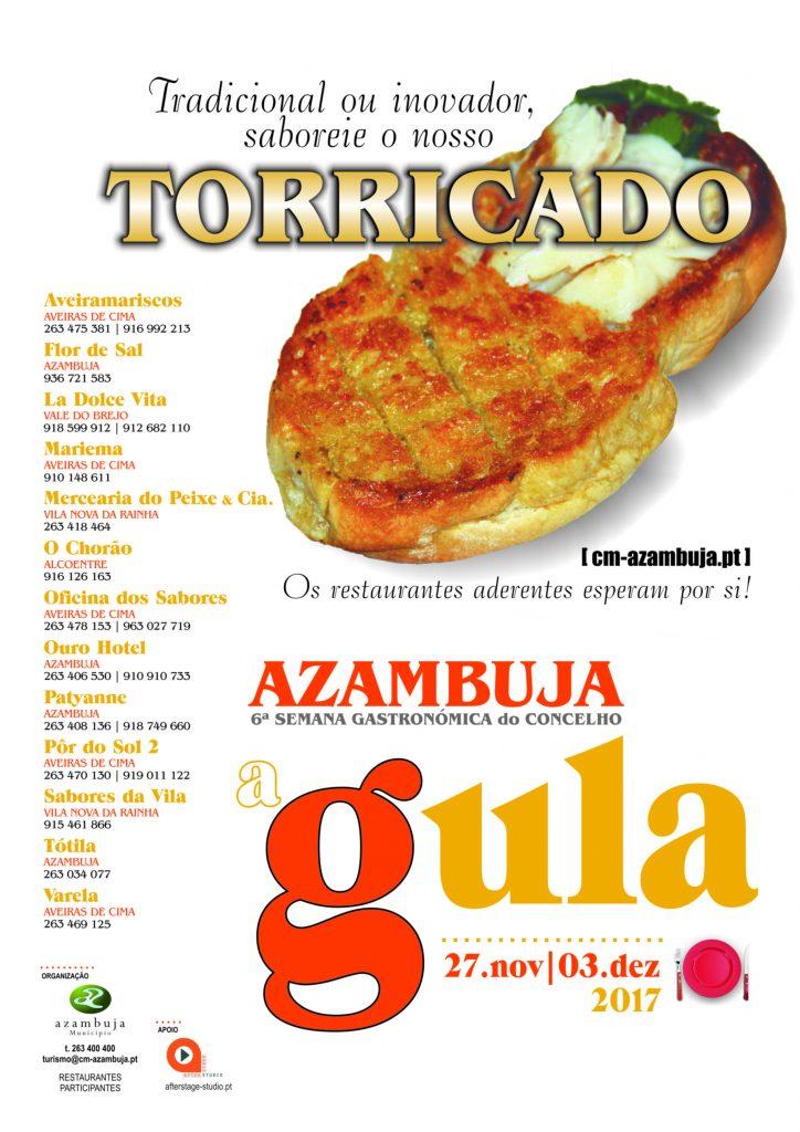 Cartaz d'A Gula - Semana Gastronómica do concelho de Azambuja