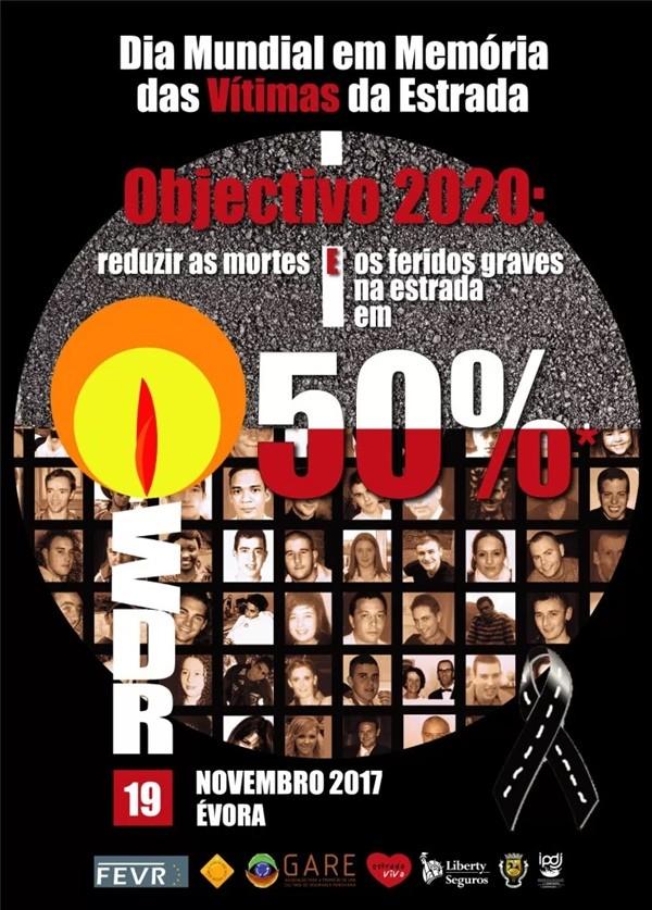 Cartaz do Dia Mundial em Memória das Vítimas da Estrada 2017