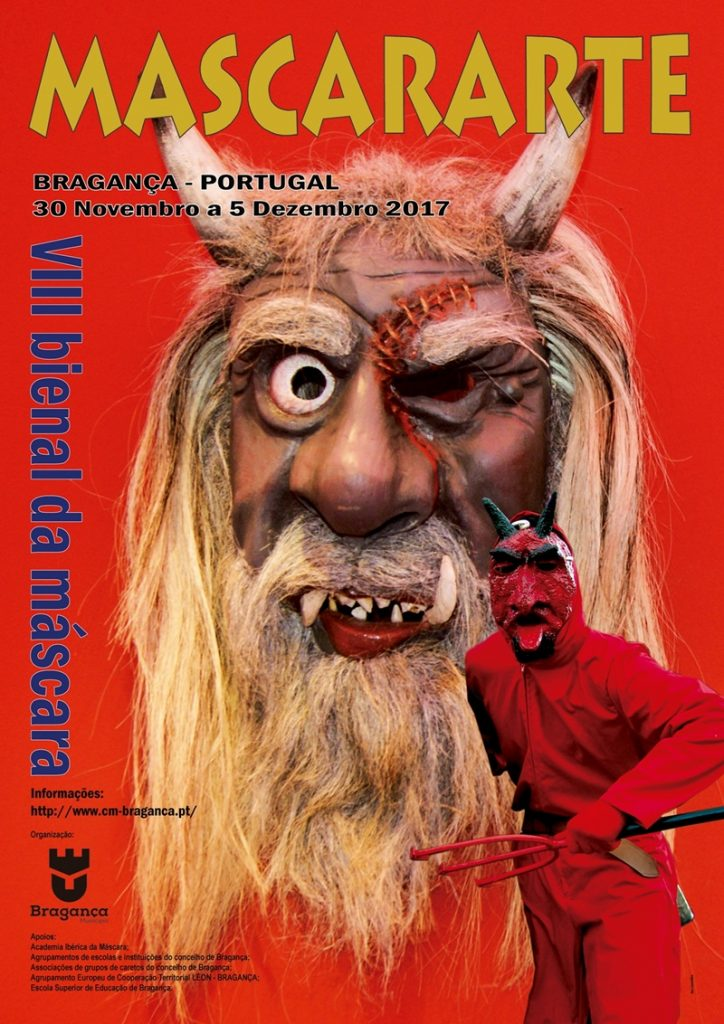 Cartaz da VIII Bienal da Máscara - Mascararte - Bragança