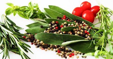 As ervas aromáticas na nossa alimentação
