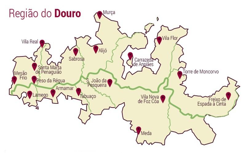 mapa região demarcada do douro A Região Demarcada do Douro – um mundo extraordinário | Calendários mapa região demarcada do douro