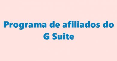 Programa de afiliados do G Suite