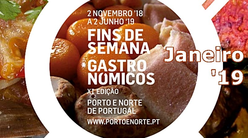 Fins-de-semana Gastronómicos | Janeiro 2019