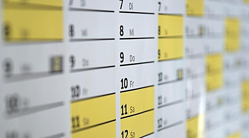 Calendário para divulgação de atividades diversas