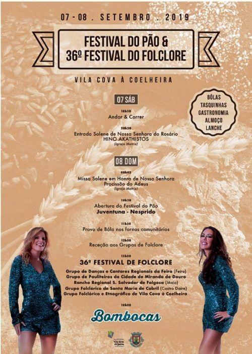 Cartaz de divulgação do Festival do Pão e 36º Festival de Folclore