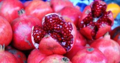 A romã é um fruto característico do outono. É, tamb+em um fruto muito peculiar!