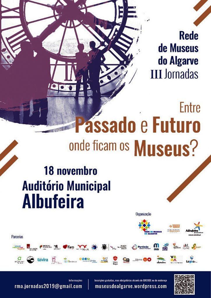 Cartaz de divulgação das III Jornadas da Rede de Museus do Algarve