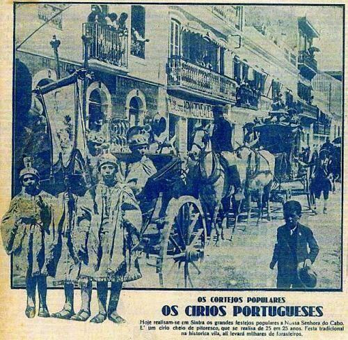 Os círios na tradição portuguesa. Sintra 1927