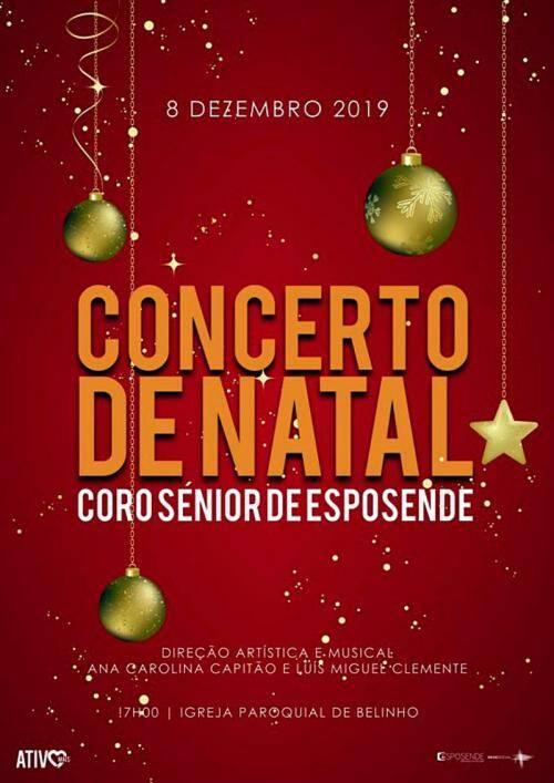 Cartaz de divulgação do Concerto de Natal em Belinho - Esposende - 8 de Dezembro de 2019