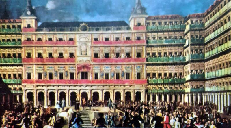 Plaza Mayor em Madrid, onde foi assinado o Tratado de Madrid ou Tratado dos Limites, entre Portugal e Espanha