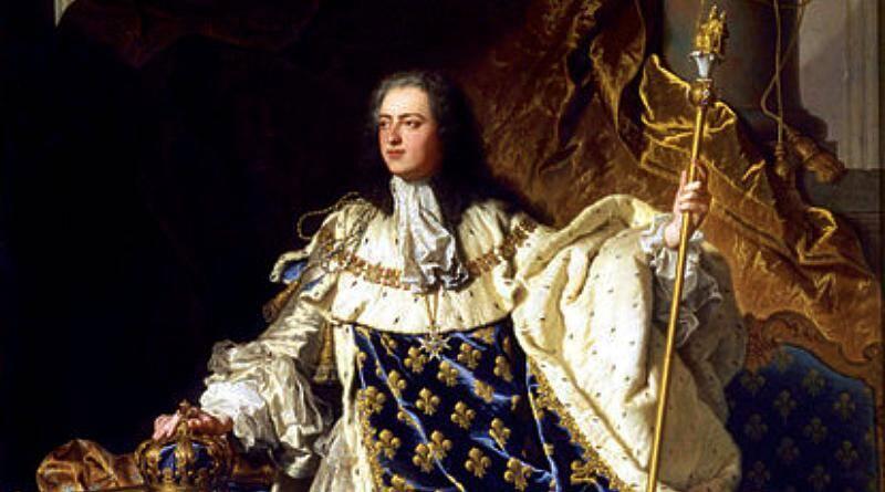 Luís XV, rei de França, nasceu a 15 de Fevereiro de 1710