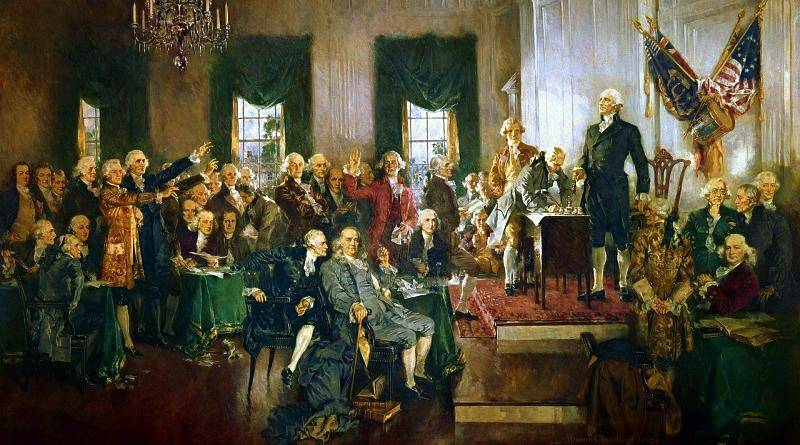 Assinatura da Declaração de Independência dos Estados Unidos da América - Filadélfia (Independência Americana)