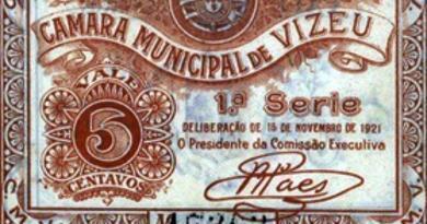 Cédula particular emitida pela CM de Viseu em 1921