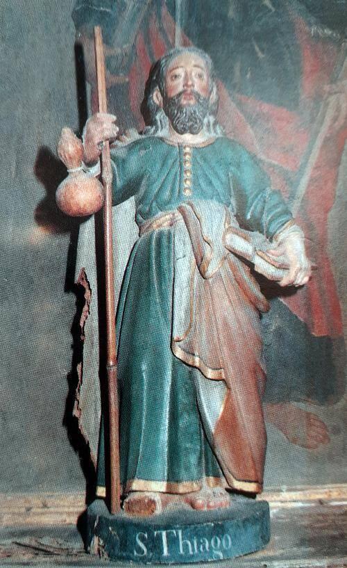 Imagem de Santiago Peregrino que se encontra na igreja de Lufrei - Amarante