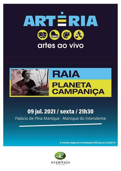 Dia 09 de Julho - música e desenho digital | Raia - Planete Campaniça